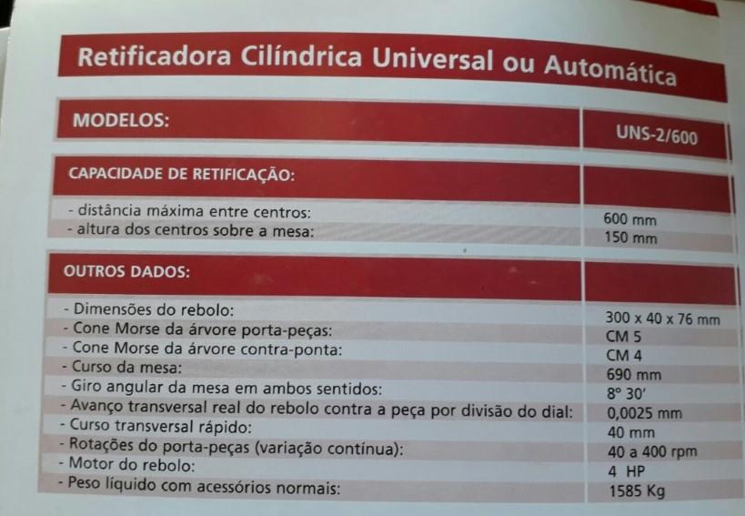 Retificadora Mello UNS 2/600