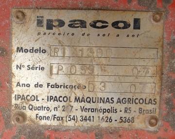 Roçadeira para Trator Ipacol RI 1300 2007