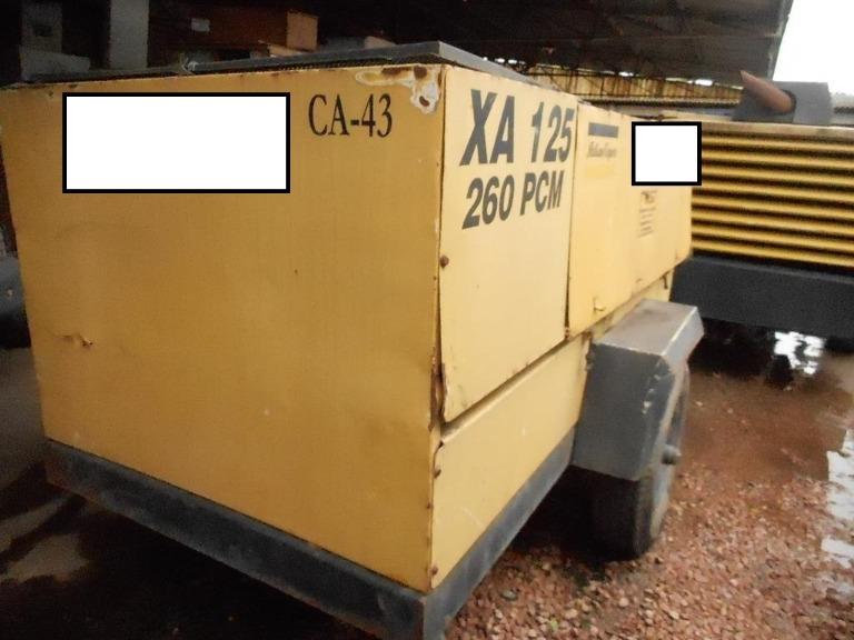 Compressor de Ar Portátil Atlas Copco XA125MWD Ano 2001