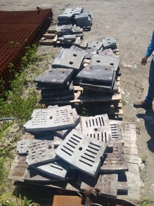 Sucata de Aço Manganês Aprox. 7 ton Retirada Imediata.