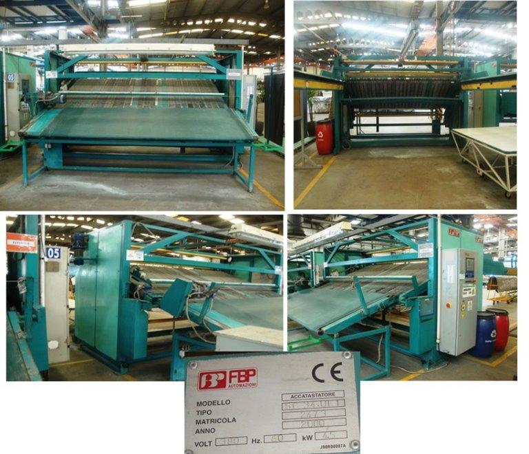 Máquina de Empilhar e Esticar Couro FBP Accatastatore SC34UL1 2000