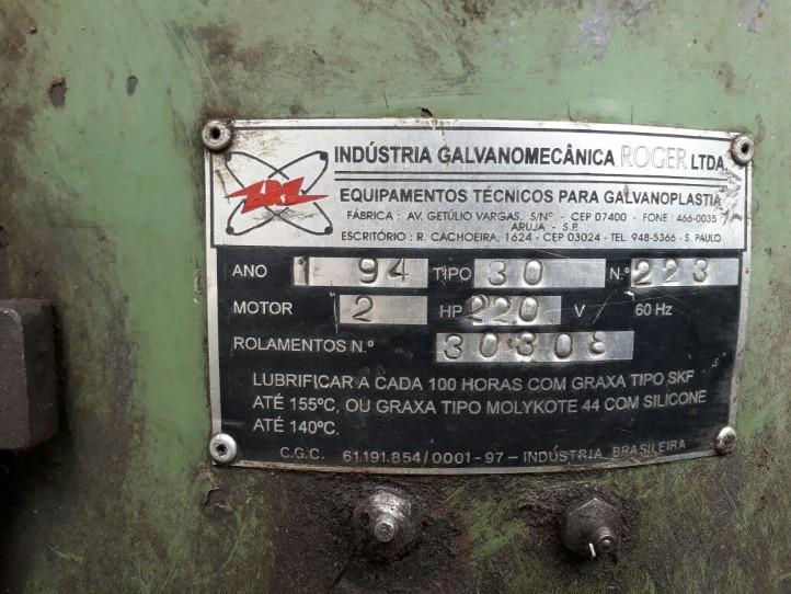 Tamboreador Vibratório Indústria Galvanomecânica Roger